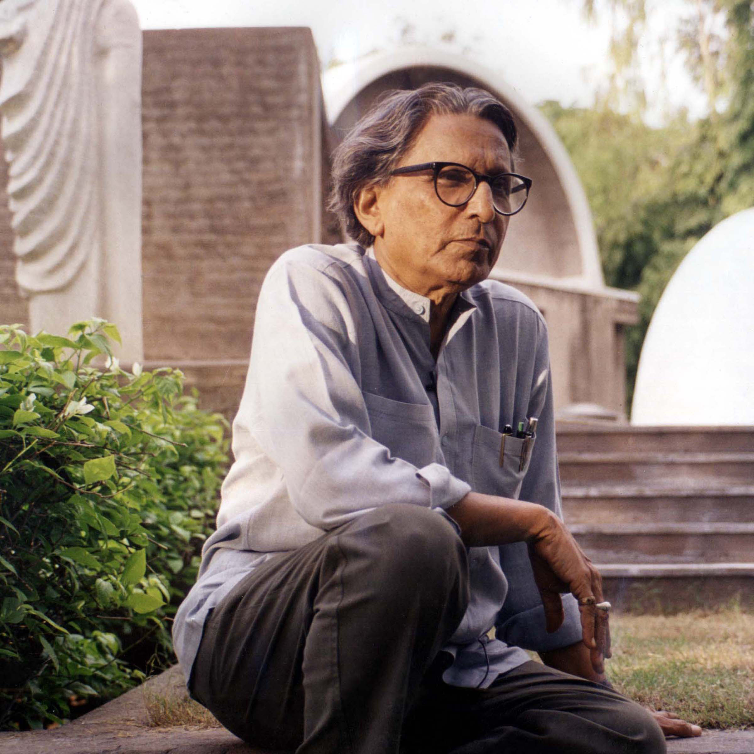 Balkrishna Doshi. Ph. © courtesy of Vsf.