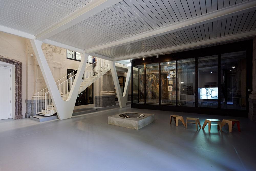 L'Artothèque de Mons, L'Escaut+Atelier Gigogne arch. © François Lichtle